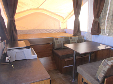 Used 2013 Flagstaff Tent Trailer Kitchen