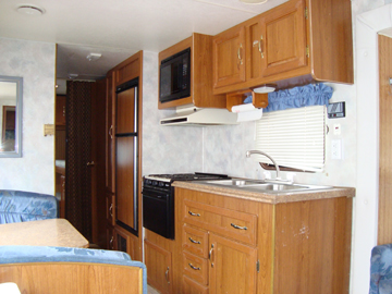 Used Coachman RV Kitchen