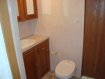Used Sandpiper RV Bathroom