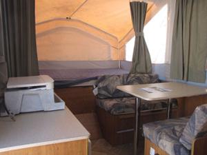 2008 Flagstaff Tent Trailer Kitchen