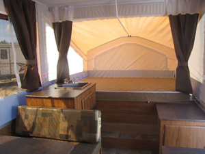 Used 2013 Flagstaff Tent Trailer Seating
